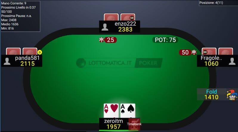 Lottomatica Poker tavolo