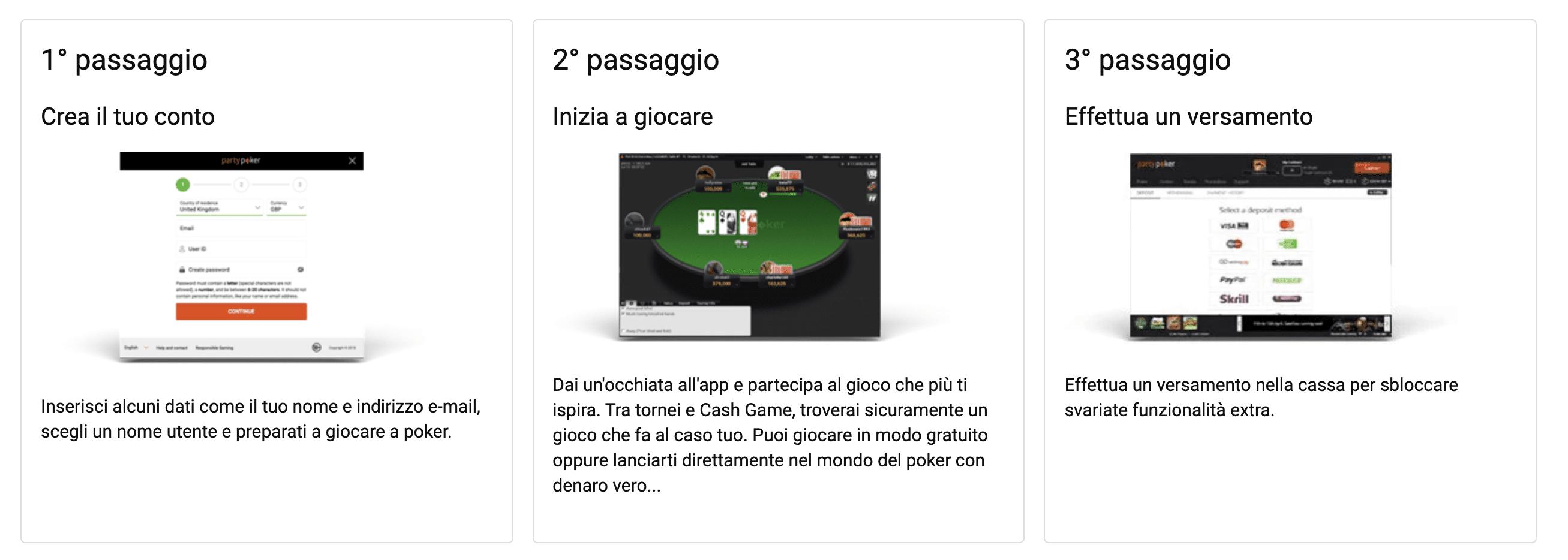 sale da poker come aprire-un-account-e-scaricare l'app su party poker
