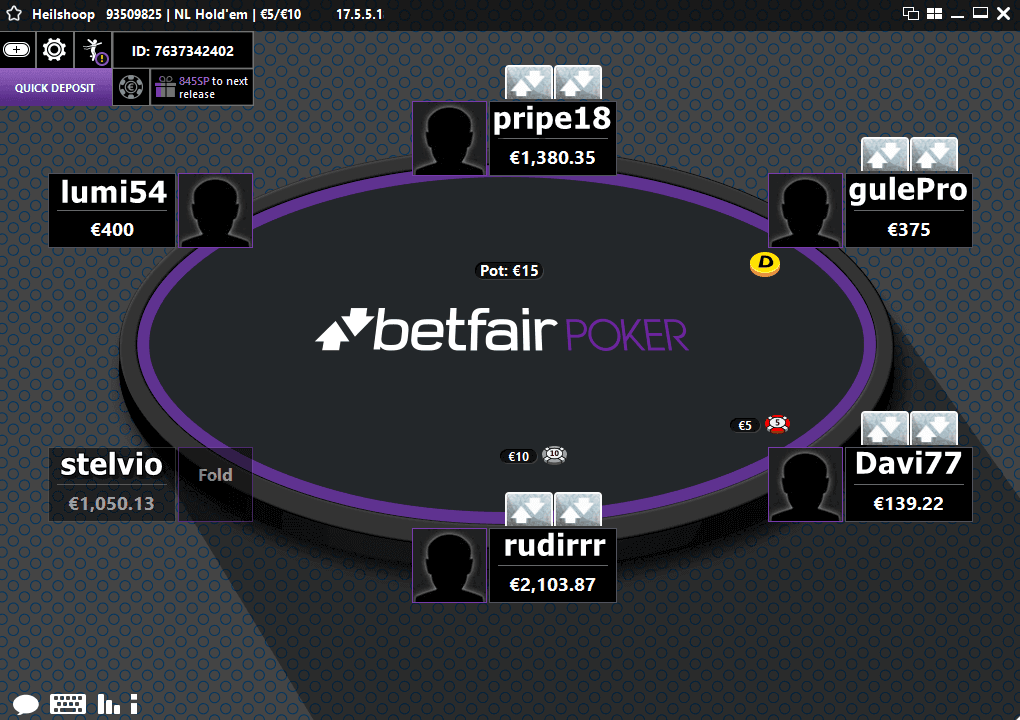 betfair poker tavolo