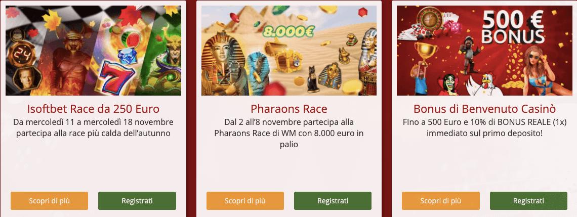 Merkur Win Poker bonus Benvenuto