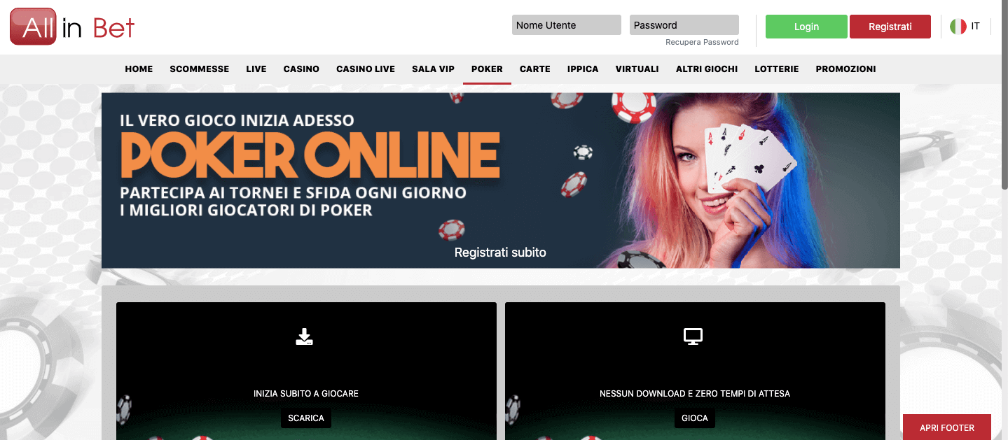 Allinbet Poker Home