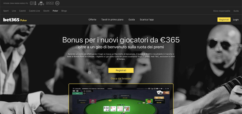 Bet365 Poker Home