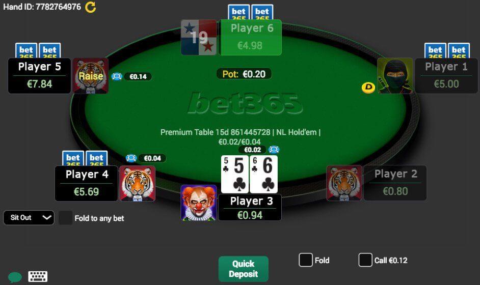 Bet365 Poker Tavolo