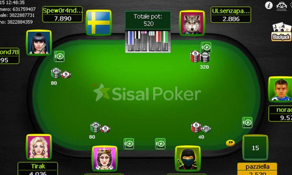 Sisal Poker Tavolo