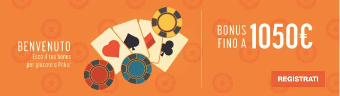 Snai Poker bonus benvenuto