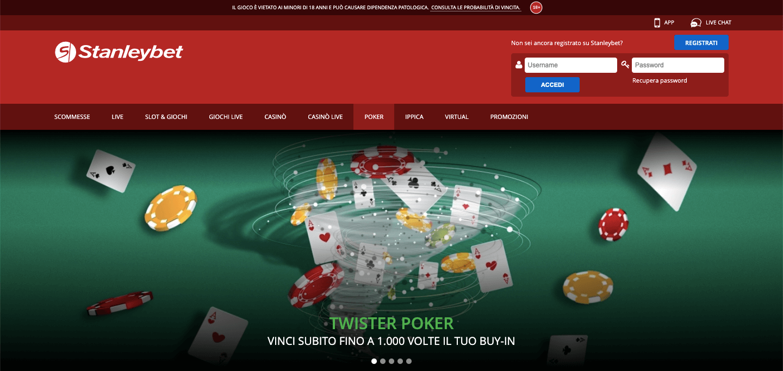 Stanleybet Poker Home
