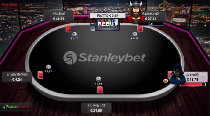 Stanleybet Poker Tavolo