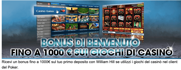 William Hill Poker Bonus Benvenuto