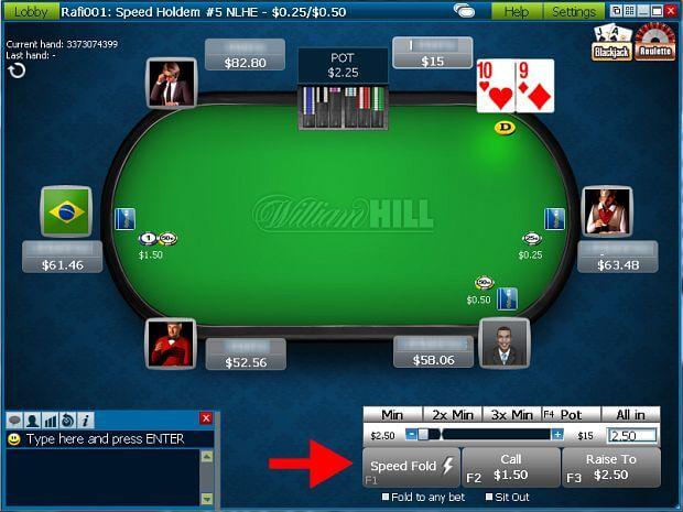 William Hill Poker Tavolo